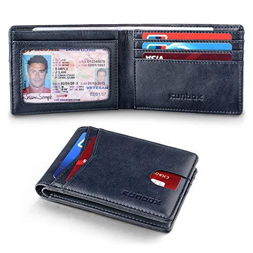 6 card slots SM SunniMix Mens RFID Blocking Leather Front Pocket Wallet Card Holder Ultra Slim