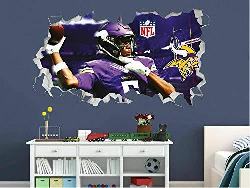 HQSM Wandtattoo Minnesota Vikings Football NFL Custom Wall Decals 3D Wall Stickers Art
