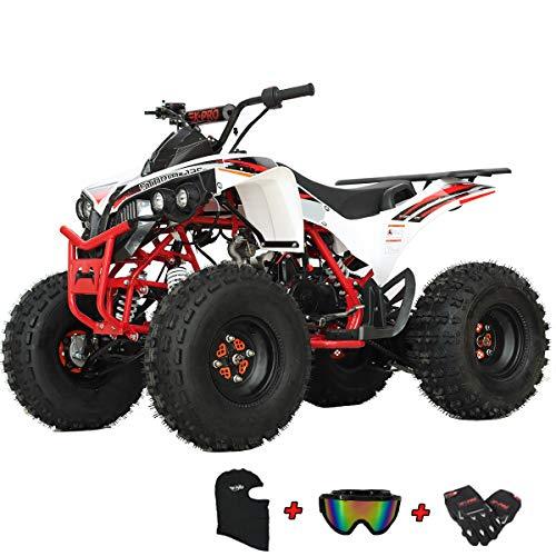 X-PRO Storm 125 125cc ATV Quad Adults ATV 4 Wheelers Youth 4 wheeler ATVs Big Boys ATVs Quads (Red)