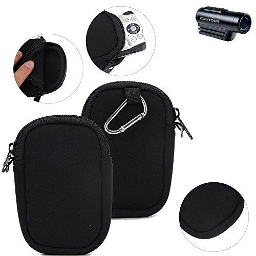 K-S-Trade® Kameratasche Für Contour Roam 3 Schutz Hülle Kompaktkamera Tasche Travelbag Sleeve Case Neopren Fototasche Schwarz 1x