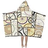 Badetücher für Baby Mädchen Schwarz-Weiß-Fahrradräder Kinder Kapuze Decke Badetücher Wrap Wrap für Kleinkind Kind Mädchen Junge Home Travel Schlaf Kinder Badetuch