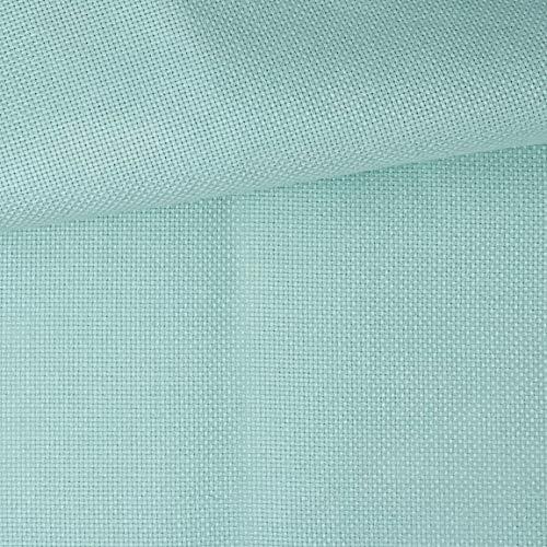 Delicatela Kreuzstich-Stoff, 75 cm x 50 cm, 5,5 Stiche/cm – 14 Counts/Zoll – 100 {f8c8da6b28d7c08f922a56f74e83aa4a164bbee4ba25d9532ce9b17716bc69b9} Baumwolle – Farbe wählbar 75cm x 50cm türkis