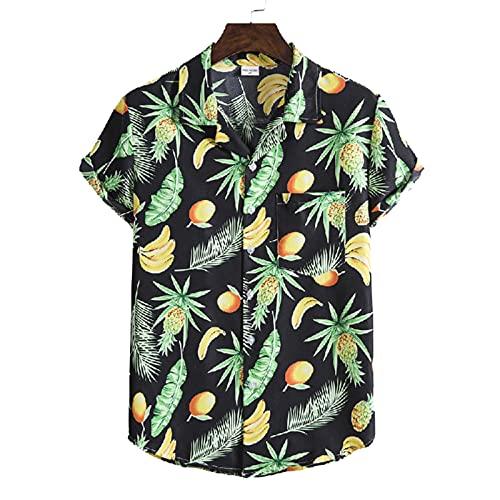 SSBZYES Camisas para Hombres Camisas De Manga Corta con Flores De Verano Camisas De Manga Corta Camisas De Gran Tamaño De Algodón Y Lino Camisas De Manga Corta a Rayas Camisas Delgadas Holgadas