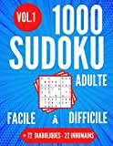 1000 SUDOKU Adulte | Facile à Difficile + 72 Diaboliques - 22 Inhumains |...