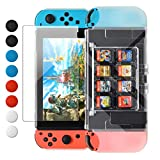 Dockable Case for Nintendo Switch, FYOUNG Protective Accessories Cover Case with 8 Game Card Slots for...