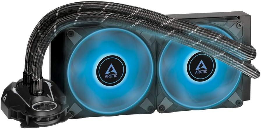 ARCTIC Liquid Freezer II 240 RGB - Disipador líquido All-in-One para CPU con RGB, Compatible con Intel y AMD, pompa eficiente controlada por PWM, Velocidad del Ventilador: 200-1800 RPM - Negro
