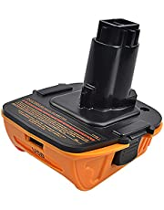 DCA1820 adapter baterii do narzędzi Dewalt 18 V, konwersja baterii litowej Dewalt 20 V do Dewalt 18 V NiCad & NiMh DC9096 DW9096 DC9098 DC9099 DW9099 Narzędzia akumulatorowe (konwerter USB)