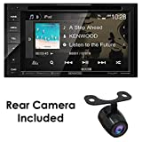 "Kenwood DDX26BT+XCTM380 Audio 6.2"" Double Din Bluetooth WVGA Touch Screen DVD Receiver w/HD"