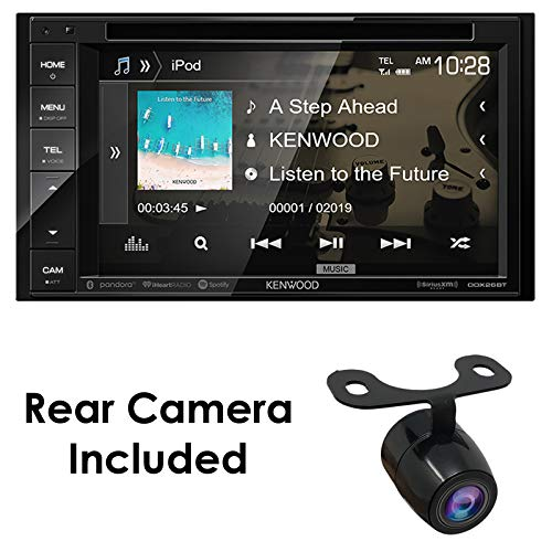 """Kenwood DDX26BT+XCTM380 Audio 6.2"""" Double Din Bluetooth WVGA Touch Screen DVD Receiver w/HD Rear View Camera"""