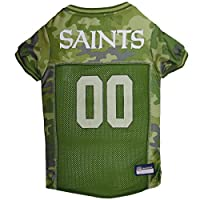 NFL New Orleans Saints Camouflage Dog Jersey, Large. - CAMO PET Jersey Available in 5 Sizes & 32 NFL Teams. Hunting Dog Shirt