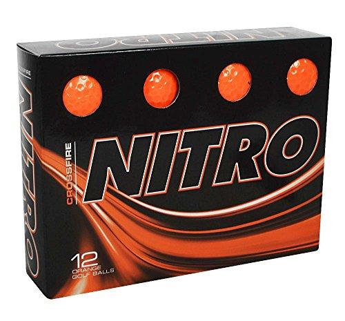 Nitro Unisex Crossfire 12 Box Golf Balls, Orange