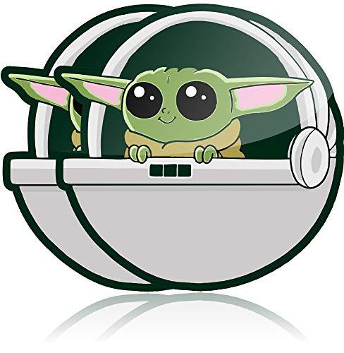 Baby Yoda Auto-Aufkleber (2 Stück) Wasserdicht Vinyl Aufkleber für Ihr Auto, LKW oder Laptop