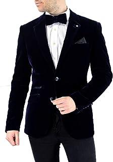 Cavani Men's Sicily Slim Fit Velvet Vintage Jacket Blazer