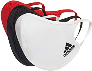 adidas Face Cover Large-Not For Medical Use, Unisex Adulto, Multicolor/Black/White/Power Red, NS'