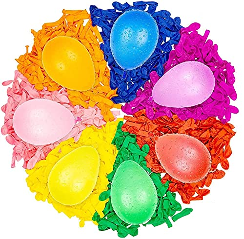 Ctao 444 PCS Water Balloons Instant Balloons Self-Sealing Quick Fill Balloons with Splash Fun Rapid-Filling for Kids and Adults Party Swimming Pool Outdoor