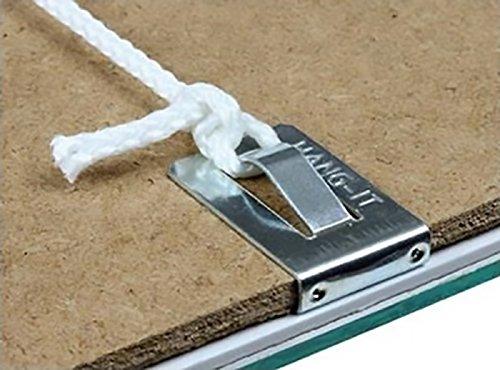 Lot de 100 clips Hang-it pour tableau ou cadre photo à suspendre - Pour des cadres de 2 mm