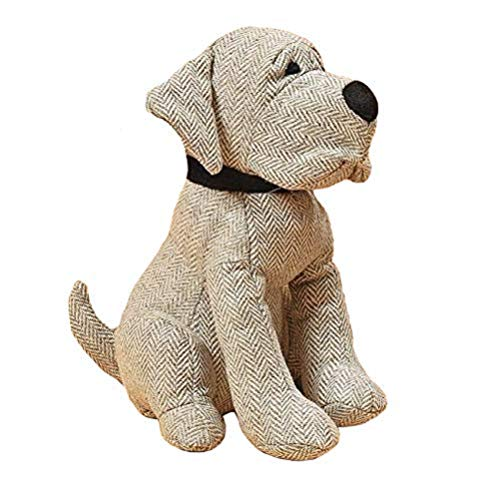 Home Collection Türstopper Hund Baumwolle Höhe 23cm (grau)