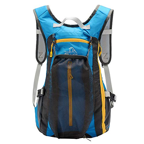 PELLIOT Bike Backpack, 20L Waterproof Cycling Bicycle Rucksack, Breathable Lightweight and Wear-resisting Running Backpack for Fitness Hiking Climbing Camping Skiing Trekking-Blue