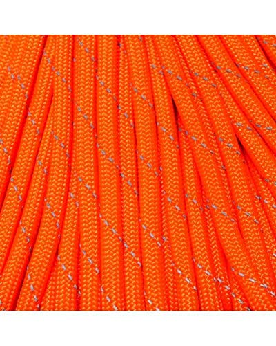 550 Paracord 10 Foot Lengths USA Made Same Day Shipping (Reflective Neon Orange)