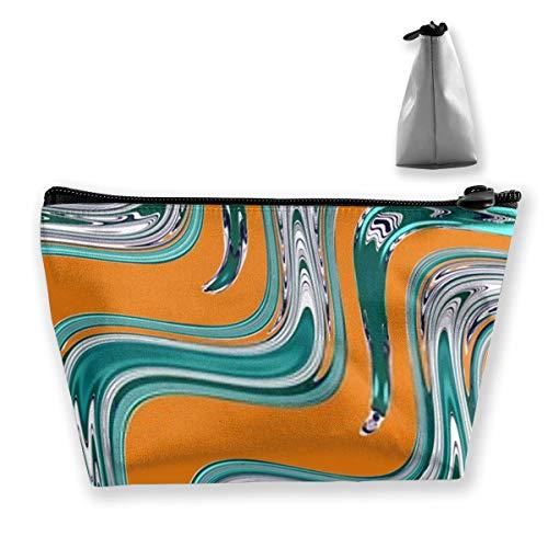 Toile de fond colorée abstraite Diverses rayures dans un zigzag Organisateur de Maquillage Trousse de Toilette pour Pinceaux Crayons Accessoires