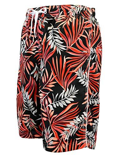 Adoretex Men's Swim Trunks Watershort Swimsuit with Mesh Liner - MP001 - Black/Red - XL