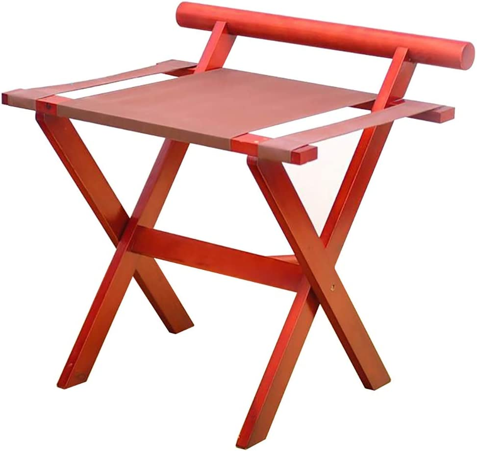 WSNBB Classic Outlet SALE Luggage Rack Max 57% OFF All Foldable Solid Des Material Wood