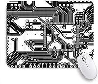 MISCERY マウスパッド 回路基板ラインは科学的および技術的な高さを示すことができます 高級感 おしゃれ 防水 端ステッチ 耐久性が良い 滑らかな表面 滑り止めゴム底 24cmx20cm