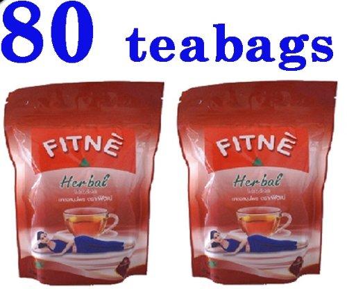 Fitne Infusion Minceur Herbal à Base de feuilles de Séné (Senna) 80 sachets | Laxatif + réduit appétit
