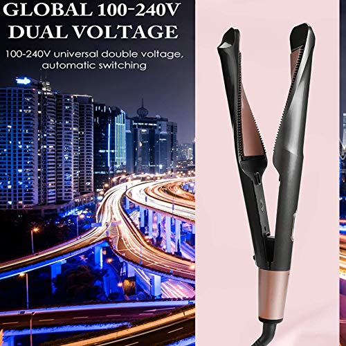 Check Out This Straight Hair Straightener, 2 and 1 Twisted Hair Straightener, Dual Hair Curler, Suit...