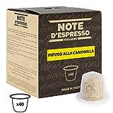 Note D'Espresso Cápsulas de Manzanilla compatibles con cafeteras Nespresso - 40 Unidades de 2g, Total: 80 g