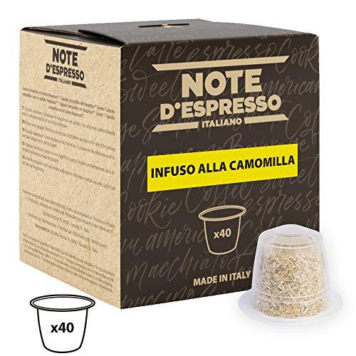 Note DEspresso Capsulas de Manzanilla compatibles con cafeteras Nespresso - 40 Unidades de 2g, Total: 80 g