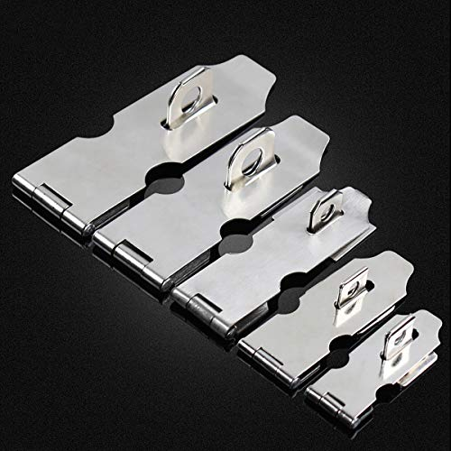 Stainless Steel Padlock Hasp, Heavy Duty Hasp and Staple Sets Door Lock Bolt Security Hasp Lock Padlock Staple Shed Clasp Door Padlock Hasp Staple for Shed