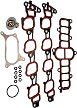 APDTY 726813 Intake Manifold Plenum Upper & Lower Manifold Gaskets, Thermostat, Oring Assembly; Fits Select 2004-2012 Ford Models See Descrition For Details (Replaces 4C2Z-9439-CC, 4L3Z-9461-AA)