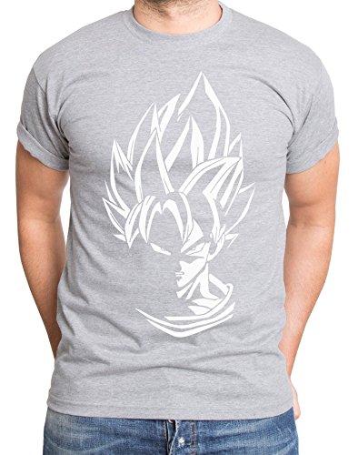 Super Son Goku T-Shirt pour Homme Dragon Master Son Ball Vegeta Turtle Roshi DB, Farbe2:Dunkelgrau Meliert;Größe2:XXL