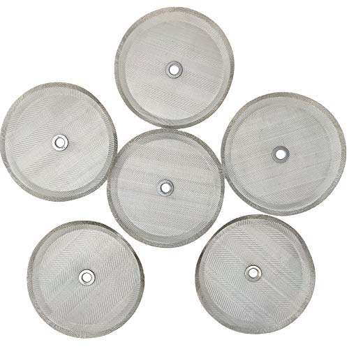 Ruilida 6pcs french press filter screen,Universal 1000 ml, 34 Oz, 8 Cup French Press Coffee Makers and Tea Machines4 Inch Stainless Steel French Press Replacement coffee filter mesh