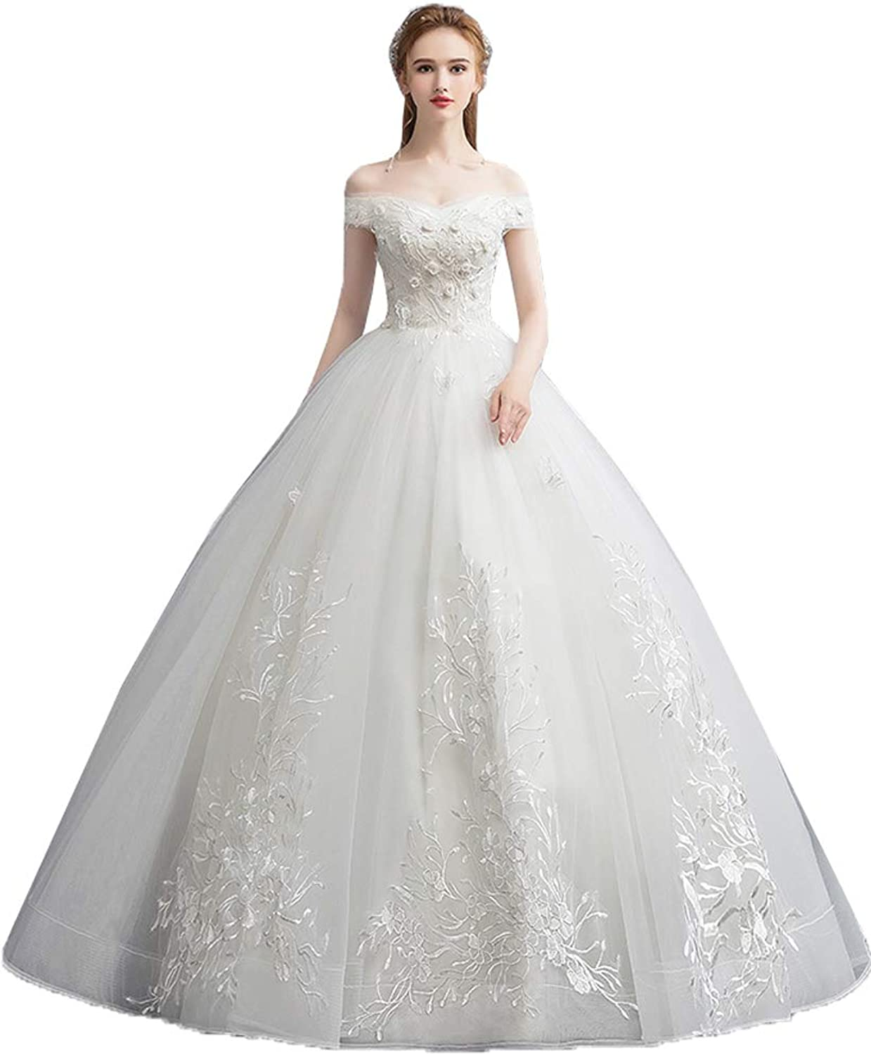 Onlybridal Women's Sleeveless Quinceanera Dresses Ball Gown Tulle Lace Formal Prom Gowns Plus Size