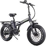Bicicleta, bicicleta eléctrica plegable para adultos, engranajes eléctricos de transmisión de bicicletas de bicicleta de montaña 7, 48V10AH Viaje a Ebike con motor de 350W para la ciudad desplazando e