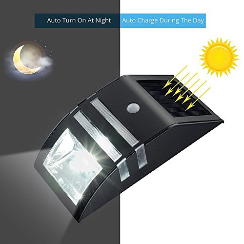 4 Pack Solar Powered LED Accent/Security Light Black