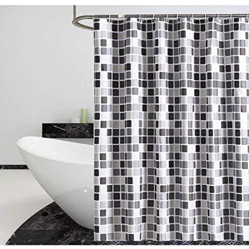 Duschvorhang 240x200 Wasserdicht, Badewanne Duschvorhänge Waschbar aus Polyester, Bad Vorhänge Badewanne Badvorhang Shower Curtains mit 14 Duschvorhangringen haken für Badzimmer