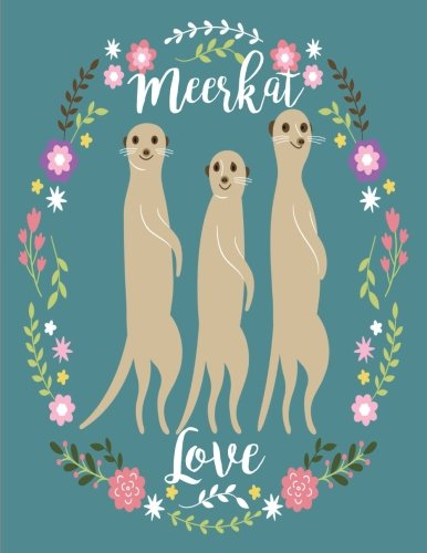 Meerkat Love: Notebook (Journal, Composition Book) (8.5 x 11 Large)