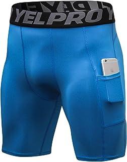 Shengwan Pantalones Cortos de Compresión Hombre Correr