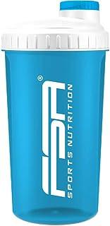 Protein Shaker 700 ml mit Messskala und Drehverschluss, für Diät- und Protein-Shakes, BPA frei von FSA Nutrition - Türkis