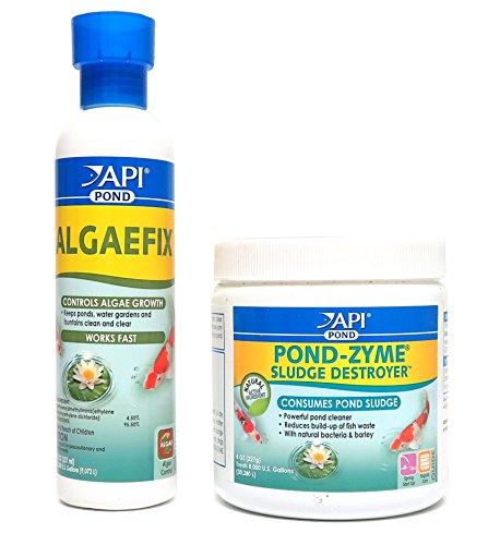 API Pond Care Bundle, Pond-Zyme Sludge Destroyer & AlgaeFix, 8-Ounce Each