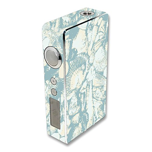 MightySkins Skin Compatible with Sigelei 100W Plus / 150W – Blue Seashells | Protective, Durable, and Unique Vinyl Decal wrap Cover | Easy to Apply, Remove, and Change Styles | Made in The USA