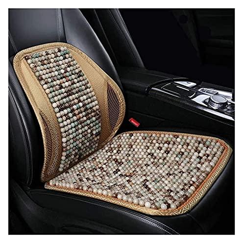 2pcs Ventilación de verano Respaldo cómodo transpirable, soporte trasero para sillas de automóviles, enfriamiento transpirable con cuentas  Asiento de coche cubierta ( Color : A , Size : 1PCS )