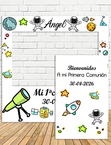 Photocall y Cartel Comunión de Niñ@ 100x100cm| Divertido y económico|Detalle de comunión| Hazte Unas Fotos Divertidas en el comunión de tu hij@| Personalizable …