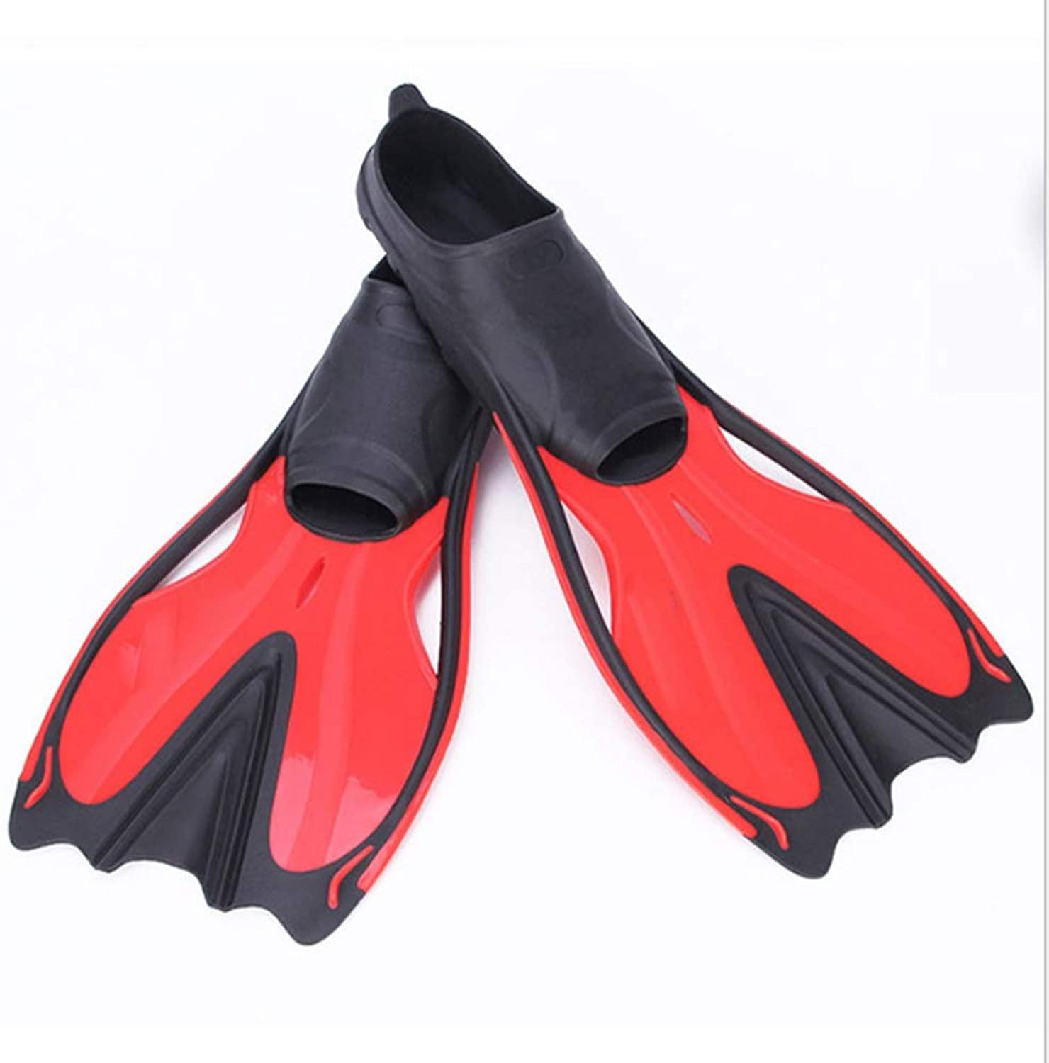 Universal Swim Fins Short Floating Training Fins for Kids and Adults Thermoplastic Rubber Pool Fins for Swimming Diving Snorkeling Watersports