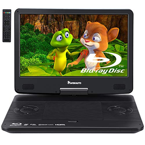 NAVISKAUTO 14' Portable Blu-Ray DVD Player with 1920X1080 HD...