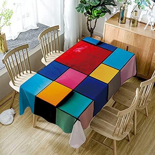 XXDD Mantel Moderno de Simplicidad Textil para el hogar Colorido patrón de...