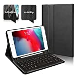 Coque pour iPad Mini 4 Clavier Bluetooth en AZERTY, Étui de Protection avec Support Multi Angles...